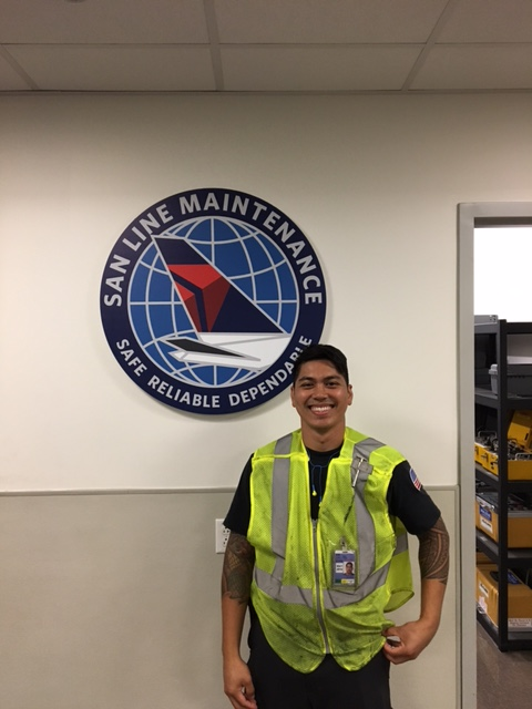 Miramar College Alum Rod Tiong now works at Delta Air Lines