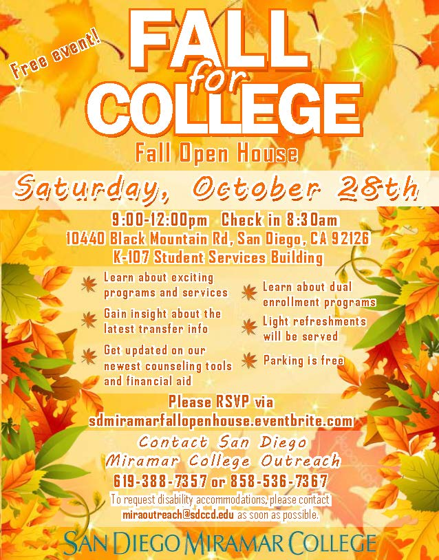 Fall Open House October 28