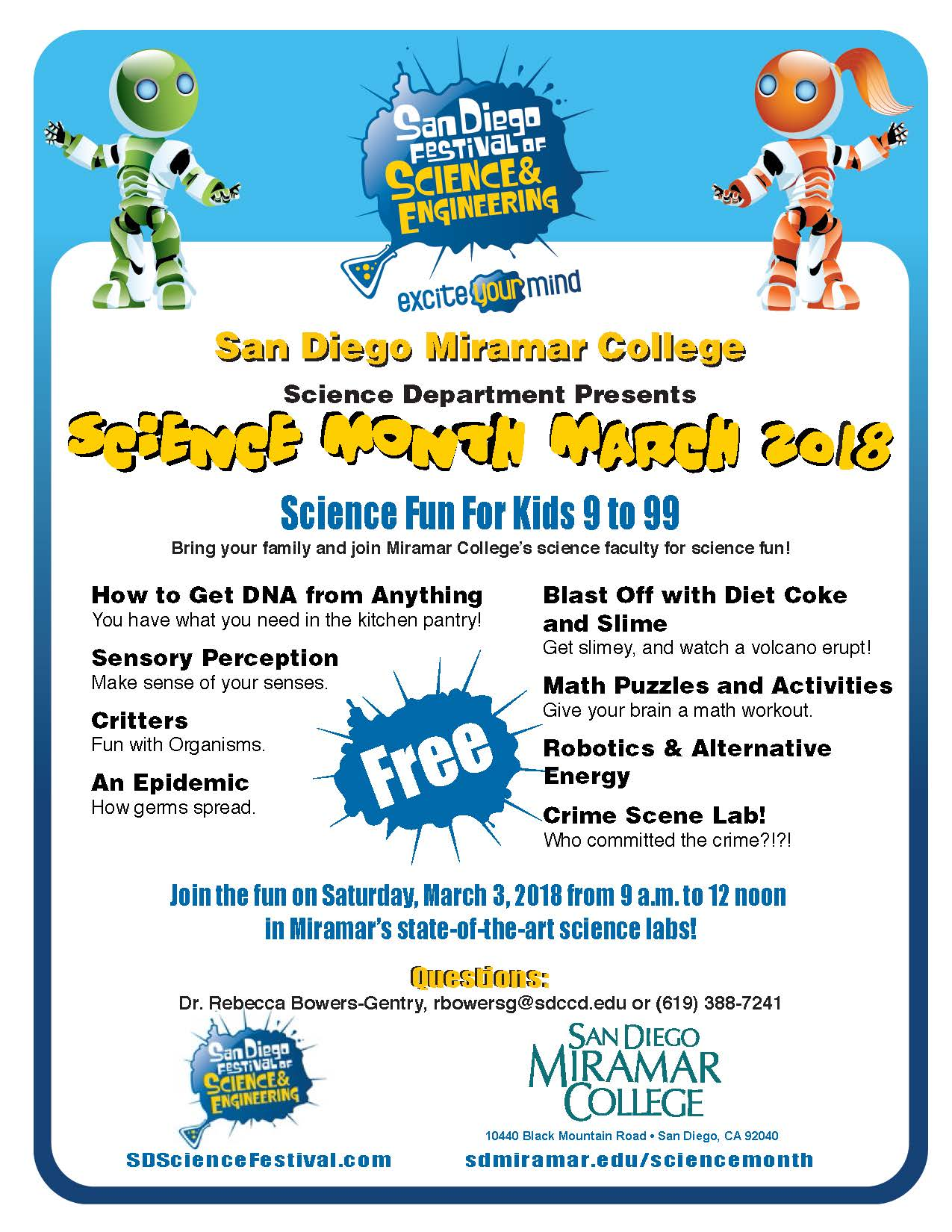 Science Festival March 3