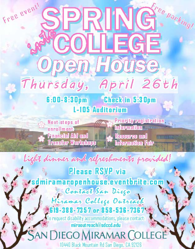 spring into open house is April 26