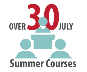 Over 30 July Summer Courses Offered