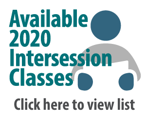 Available 2020 Intersession classes