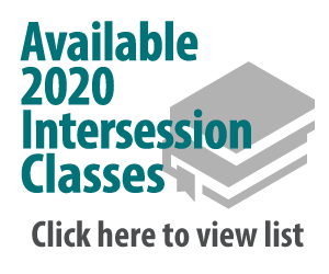 Intersession classes for 2020