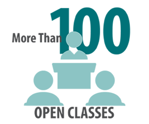 More than 100 open classes