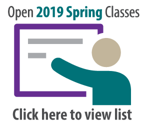 Open Spring 2019 classes