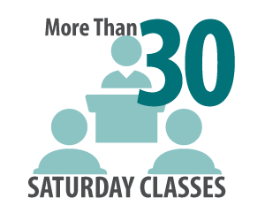 Convenient Online and Weekend Classes
