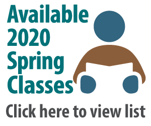 Available Spring 2020 courses