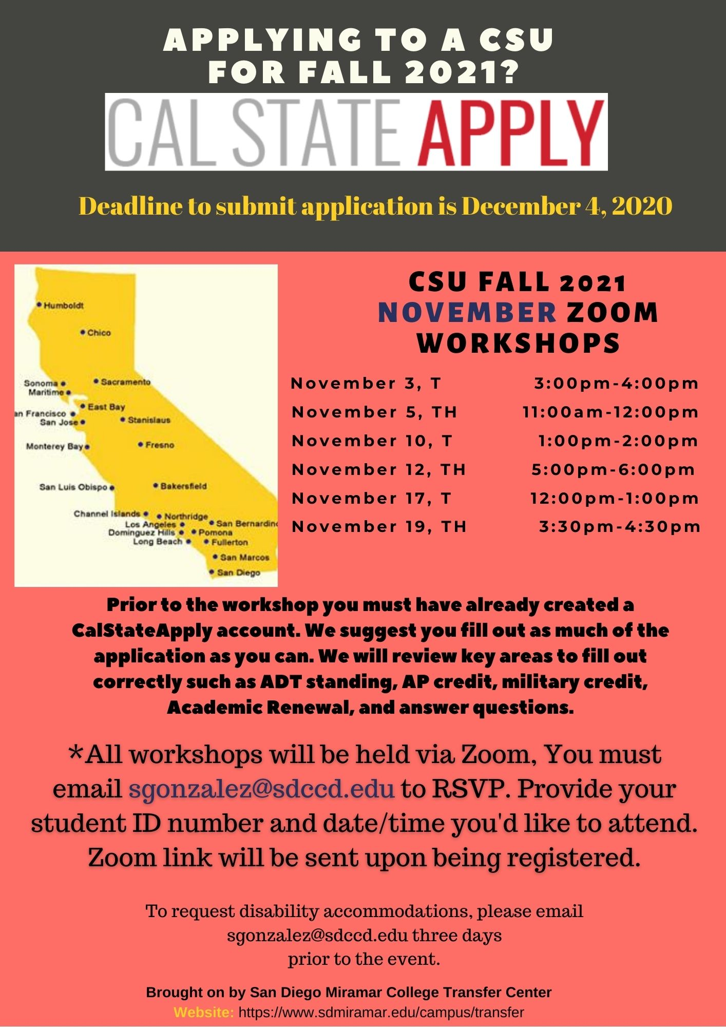 CSU November Workshops