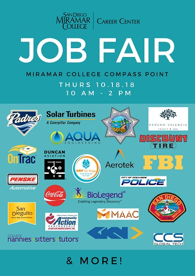 Fall '18 Miramar College Job Fair