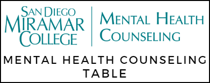 San Diego Miramar College Mental Health Counseling Table