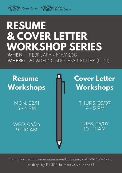 Career Center Resume and Cover Letter Workshops