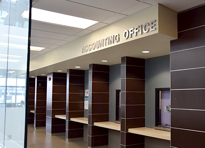 Photo of the Student Accounting Office
