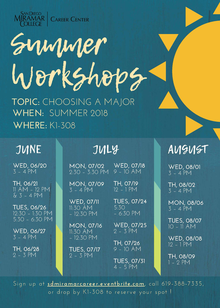 Summer 2018 Workshops