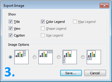screenshot of the Export Image window in Tableau Reader
